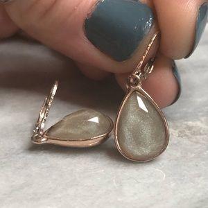 Nine West Rose Gold Tear Drop Earrings
